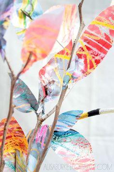 alisaburke: paper leaves