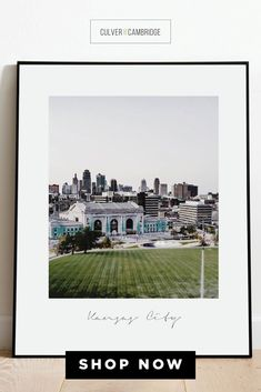 Culver and Cambridge's Kansas City Print. Our vintage-style photo print is a bold, modern art touch featuring your favorite city! Geography prints make a great pair or a set of three or four to celebrate all your favorite places. Our city prints and state posters also make perfect housewarming gifts and going away gifts! || culverandcambridge.com || Kansas Poster || #poster #artprint #walldecor Dining Room Wall Decor, Office Wall Decor, Poster Poster, Posters, Poster Prints, Minimalist Dining Room, City Print, Living Room Prints, Going Away Gifts