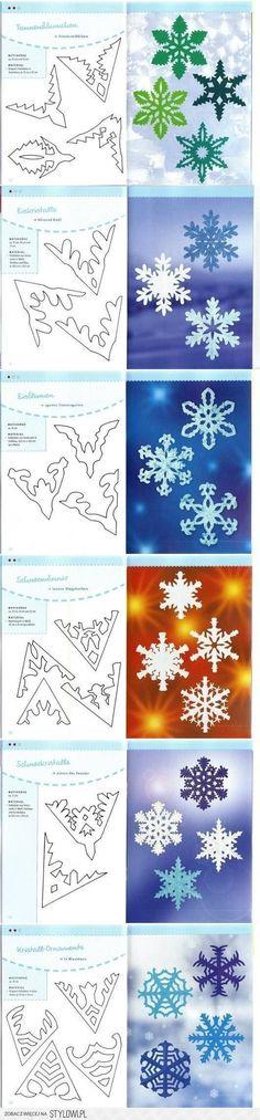 DIY Paper Schemes Snowflakes DIY Projects | UsefulDIY.c…