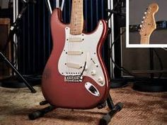 David Gilmour's candy apple red `62V strat, which he often chose to play during his 84 tour