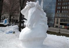 Horse snow sculpture, from molossoidea