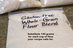 Make Your Own Gluten-Free Whole-Grain Flour Blend (Brown Rice, Amaranth and Oats) to Substitute in Favorite Recipes