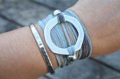 Hand Dyed Silk wrap bracelet silk ribbon Eco by LunaValentina, $24.00
