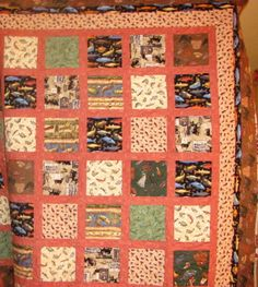 Sportsman Fishing Quilt by JUSTLOVETOQUILT on Etsy, $145.00