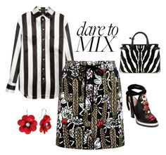 """""""Dare to Mix"""" by easy-dressing ❤ liked on Polyvore featuring Fendi, Balmain, Markus Lupfer, Burberry, polyvoreeditorial, polyvorecontest and patternmixing"""