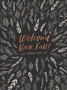 Welcome Back Fall | Handlettering and Illustration by Kercia Jane Design