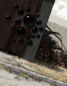 Concept art to ZONA TV series (based on the short science fiction novel written by Arkady and Boris Strugatsky), 2015 Horror Comics, Horror Art, Alex Andreev, Science Fiction, Dream Dark, Post Apocalyptic Art, The Secret World, Halloween Art, Cool Art