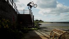 """Danny MacAskill - Way Back Home"" (Redbull): shares In another long-term hit, Danny MacAskill does some crazy stunts on his bike on a trip from Edinburgh back to his hometown Dunvegan, in the Isle of Skye in Scotland. Mtb, Bull Tv, Great Videos, Funny Videos, Parkour, Extreme Sports, Stunts, Film, Videography"
