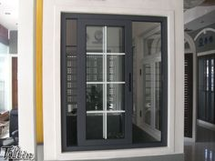 aluminium sliding window with grid (grill )