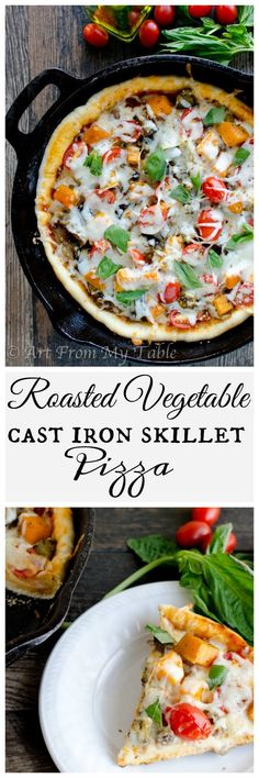 Autumn calls for season recipes. Try this rustic harvest vegetable pizza. These roasted vegetables on the pizza taste great off the cast iron skillet!