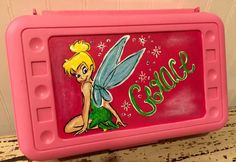 Hand painted personalized pencil box by GracieInspired on Etsy