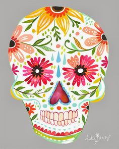 Vintage Sugar Skull. Paint on wood skull cut out and make it a Cinco de Mayo Wreath!