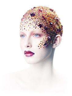 make up jewels Sfx Makeup, Costume Makeup, Beauty Makeup, Makeup Inspo, Makeup Inspiration, Bald Cap, Fantasy Make Up, Foto Fashion, Make Up Art