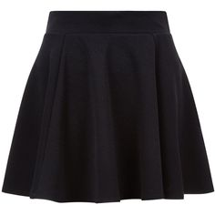 Teens Black Skater Skirt (40 PEN) ❤ liked on Polyvore featuring skirts, skater skirts, flared skirt and circle skirts