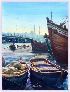 ) – Vehicles is art Oil Painting Pictures, Watercolor Architecture, Turkish Art, Art Studies, Creative Art, My Drawings, Watercolor Paintings, Abstract Art, Scenery