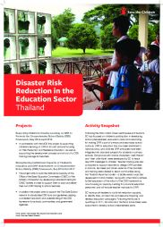 Disaster Risk Reduction in the Education Sector: Thailand Evacuation Plan, Earthquake And Tsunami, Save The Children, Secondary School, Curriculum, Centre, Thailand, How To Plan, Education