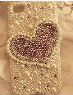 Heart-shaped pearl diamond Hard Back Mobile phone Case Cover Bling girly Rhinestone Case Cover for iPhone 4 5 6 6 plus Samsung galaxy 3 4 Girly Phone Cases, Diy Phone Case, Mobile Phone Cases, Iphone 6 Plus Case, Iphone 4s, S5 Mini, Galaxies, Elsa, Samsung Galaxy