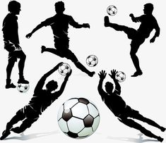 Football player silhouette PNG and Vector Soccer Cake, Soccer Goalie, Soccer Boys, Football Players, Soccer Birthday, Soccer Party, Cake Birthday, Soccer Silhouette, Silhouette Png
