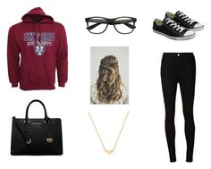 #Oxfordstudent #Oxford by itsjuliexx on Polyvore featuring Mode, AG Adriano Goldschmied, Converse, MICHAEL Michael Kors and Stella & Bow