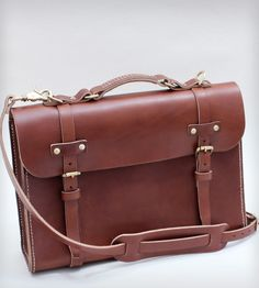 Hand-Stitched Leather Briefcase | Women's Bags & Accessories | W Durable…