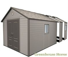 The Lifetime Heavy Duty Plastic Shed comes with an apex roof, it is manufactured with quality polyethylene and features a steep pitched roof for extra water drainage. Free UK delivery from Taylors