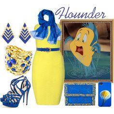 Flounder by merahzinnia on Polyvore