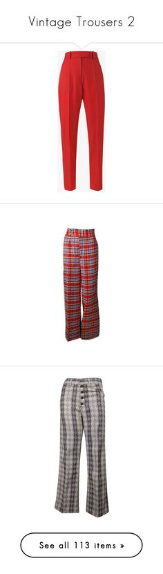 """Vintage Trousers 2"" by mickjaggerismydrug ❤ liked on Polyvore featuring pants, rolled up pants, high rise trousers, high waisted trousers, high rise pants, high-waisted pants, home, home decor, 1970s home decor and elephant home accessories"