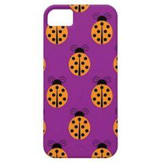 Cute Orange Lady Bug Pattern iPhone 5 Cover