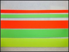 7/8 and 3/8 Neon grosgrain ribbon set  5 yards total by MamaTique, $2.50