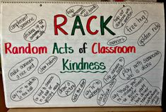 3rd Grade Thoughts: Getting Ready for RACK Week!