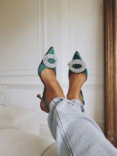 80294063878 Emerald green shoes Manolo Blahnik Shoes