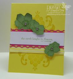 Stampin' Up! Fabulous Florets by Debbie Henderson, Debbie's Designs