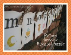 Teaching The Little People: Picture Alphabet Flashcard Banner