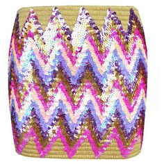 Bandage Sequin Skirt ($72) ❤ liked on Polyvore