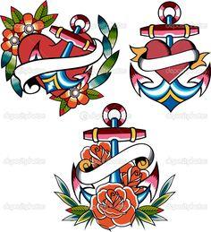 Sailor Anchor Nautical Tattoo - Buscar con Google