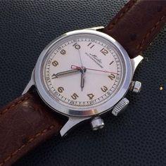 #mido #chronograph #mcc #minutecentrale #creamdial #borgelcase