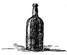 free public domain image 23 line drawing of whiskey bottle
