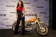 https://flic.kr/p/P7ms5z | Bad girs with the Harley Davidson | Photo exhibition and fair