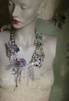 Baroque musings necklace delicate shabby chic by FleursBoheme
