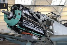 Daimler-Benz DB.601Aa V12 inverted engine of the Bf-109E-3 Flying Heritage Collection Washington State