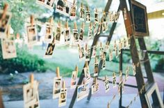 polaroid guest book ideas. Easy to remember faces with the names and ready to make into a scrap book.