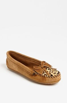 "The weird thing is, these are NOT ""so me""... and yet I want them. I think they might be a ""me"" I haven't started dressing yet...  Minnetonka 'Leopard Kilty' Moccasin 