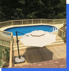 Ready Decks has the most extensive selection of decks for sale in Livingston. The deck of your dreams is within reach! Oval Above Ground Pools, Best Above Ground Pool, In Ground Pools, Above Ground Pool Landscaping, Backyard Pool Landscaping, Backyard Pavilion, Semi Inground Pool Deck, Intex Pool, Decks Around Pools