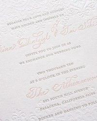 Romantic Pink + Gray Wedding Invitations