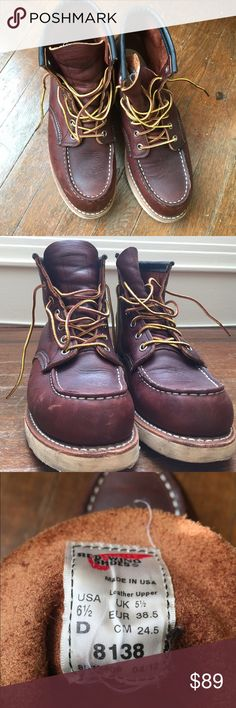 New Red Wing shoes heritage boots 6 1/2 New Red Wing Shoes heritage boots Classic Moc 8138   Size 6 1/2 (men's), 8 (women's) Red Wing Shoes Shoes Lace Up Boots