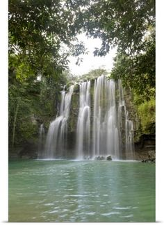 Poster Print Wall Art Print entitled Llanos De Cortez Waterfall, La Libertad, Guanacaste, Costa Rica, None Costa Rica Art, Costa Rica Travel, Camping In Ohio, Camping World, Panoramic Images, Camping Hacks, Camping Trailers, Camping Gear, Camping Activities