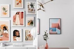 8 Eye-Catching Items You Can Dress Up Your Plain Walls With | Qanvast Settee Sofa, Blank Walls, Interior Design Living Room, Living Room Furniture, Dress Up, Gallery Wall, Minimalist, Layout, Eye