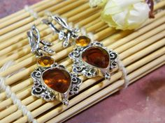 Materials: citrine, citrine yellow, citrine cut, cubic zirconia, silver fittings Size: earrings length - 5 cm ##handmade Citrine Earrings, Cubic Zirconia Earrings, Silver Jewelry, Yellow, Natural, Handmade, Free, Products, Hand Made