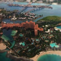 Beautiful aerial view of Paradise Island! Can you spot the Mayan Temple? Dream Vacation Spots, Bahamas Vacation, Dream Vacations, Paradise Island, Island Resort, Aerial View, Atlantis, Caribbean, Temple