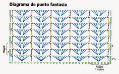 Suéter tejido en gajos-diagrama del punto fantasia